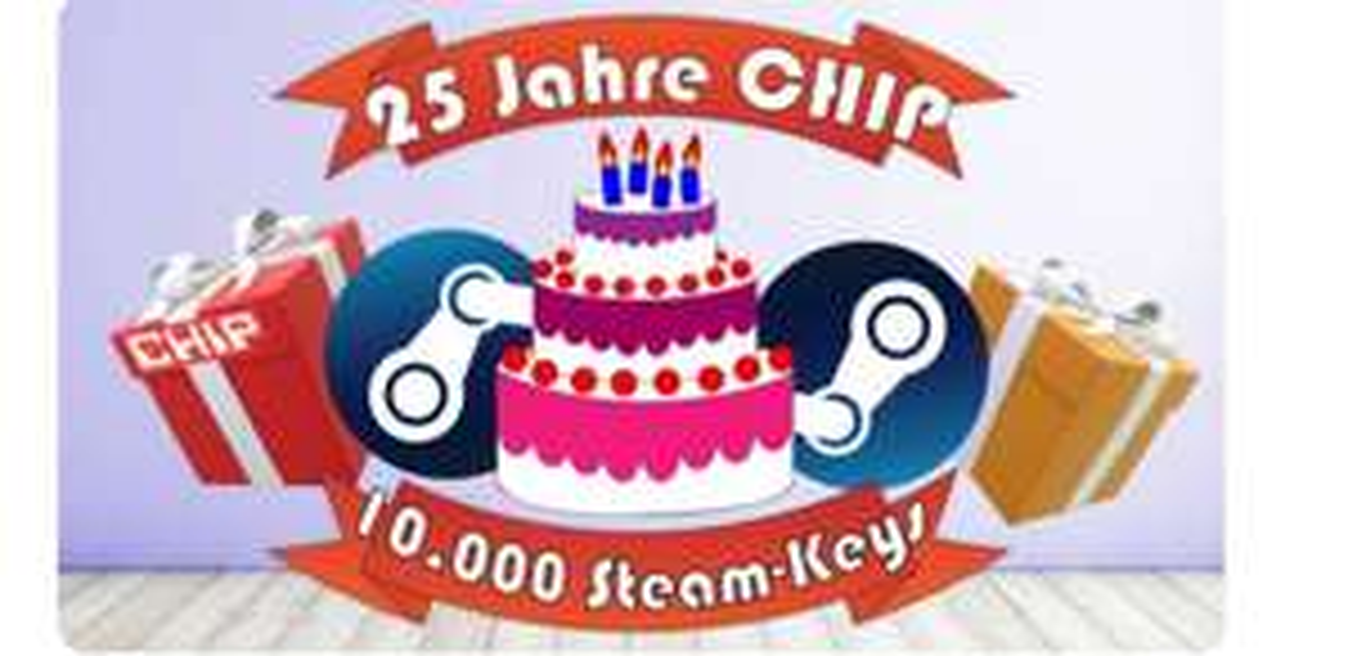 10.000 Steam-Keys* kostenlos bei Chip, ab 16.00 Uhr