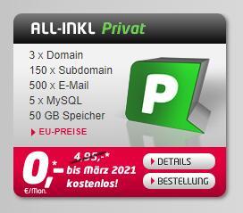 Webhosting mit 3 Domains inklusive ab 4,95€ im Monat (Bis Ende März gratis)