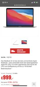 Macbook Air M1 256GB spacegrau