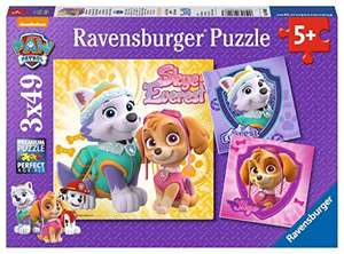 Preisjäger Junior: Kinderpuzzle - Paw Patrol - 3 x 49 Teile