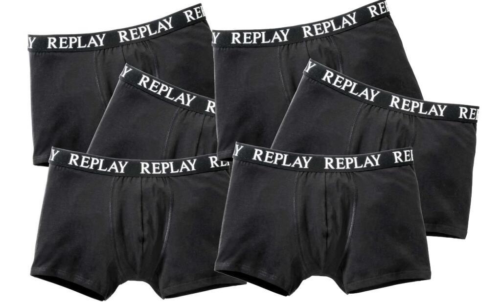 6x Replay Boxershorts, verschiedene Farben & Größen