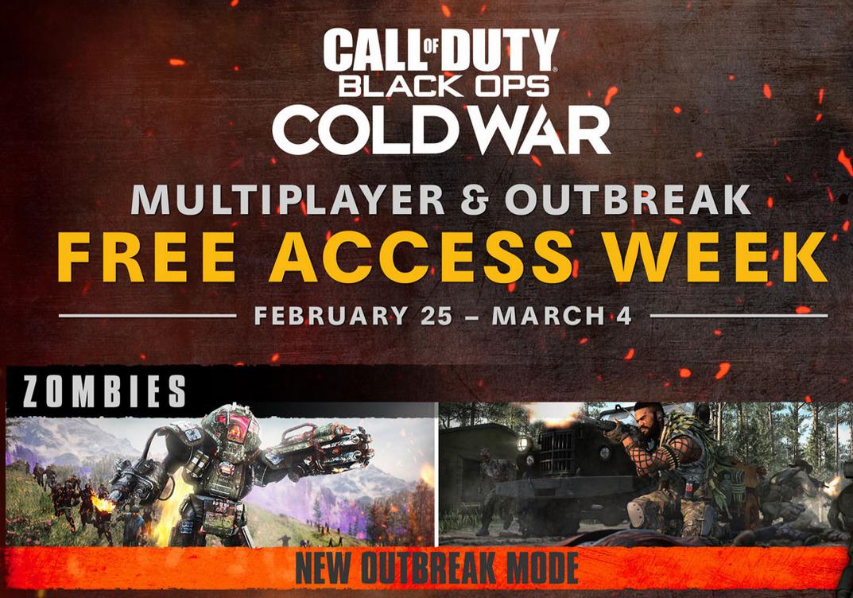 """""""Call of Duty®: Black Ops Cold War"""" (PlayStation /XBOX /PC) Ausbruch und den Mehrspielermodus gratis spielen von Heute 19 Uhr bis 4.März"""