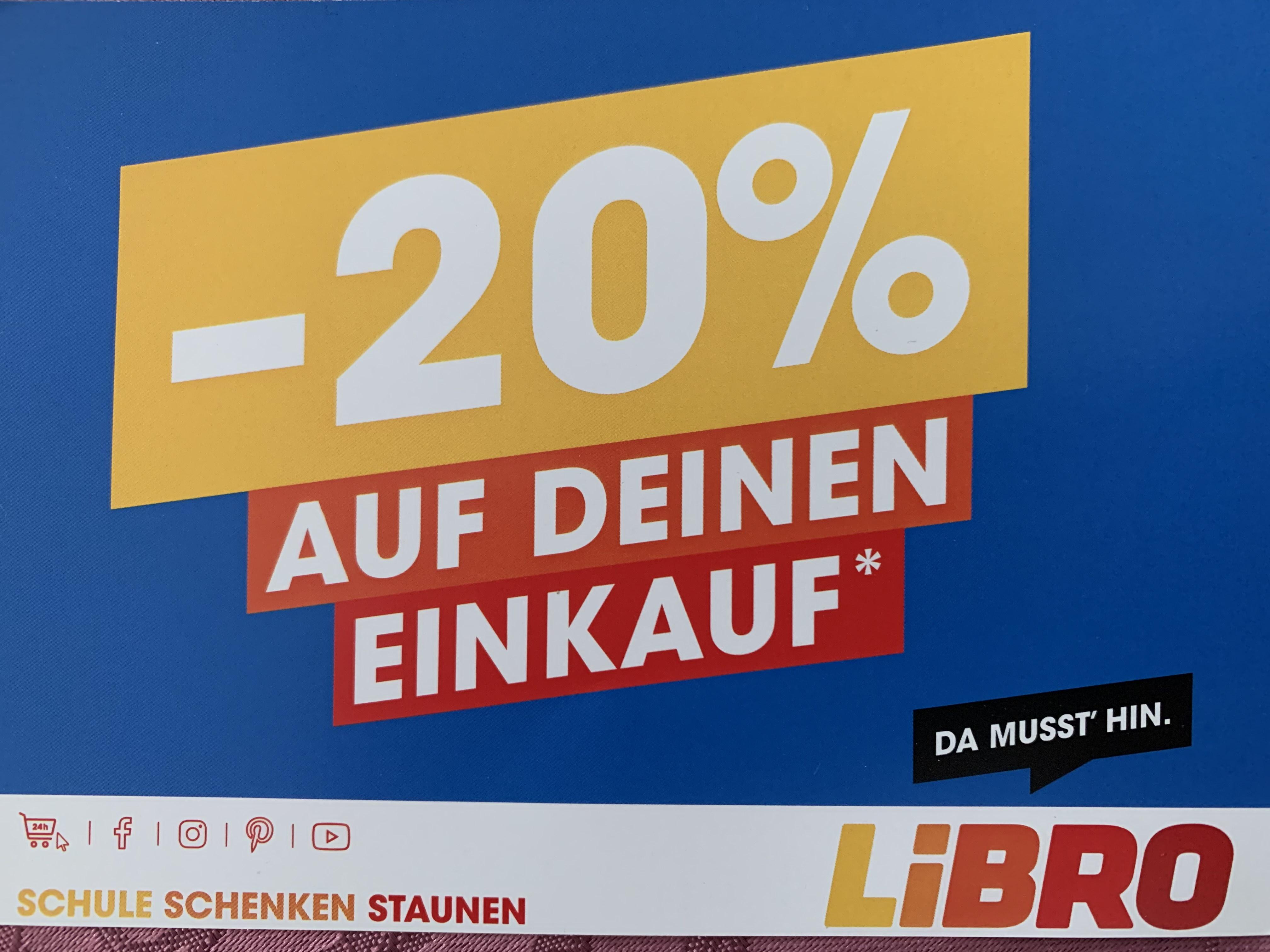 20% ab 30€ bei Libro