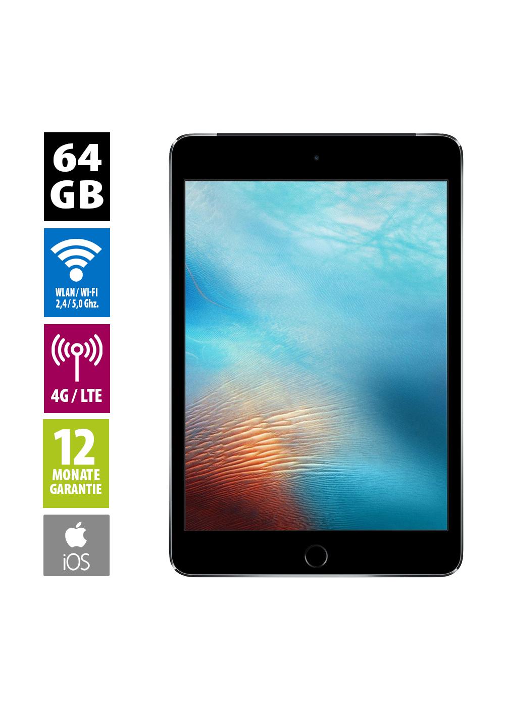 Grade A - Apple iPad mini 4 Wi-Fi + Cellular 64GB