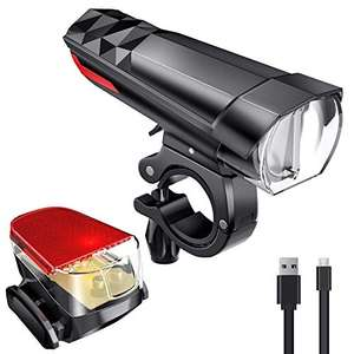 LED Fahrradlicht Set