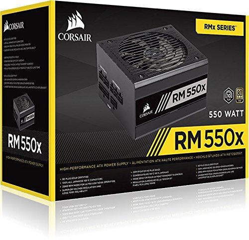 Corsair RM550x PC-Netzteil (Voll-Modulares Kabelmanagement, 80 Plus Gold, 550 Watt)