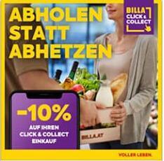 10 % Rabatt auf Click and Collect bei Billa