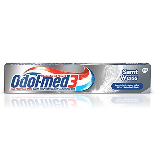5x Odol Med 3 Samtweiß Zahnpasta