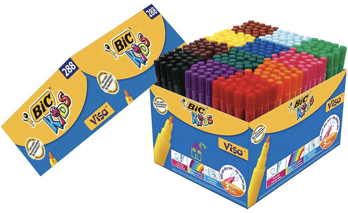 BIC Kids Fasermaler 288 Stück 12-farbig