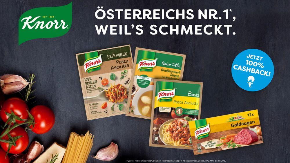 Jetzt 100% Cashback auf dein Lieblings Knorr-Produkt sichern!