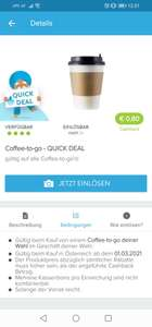 Marktguru Quickdeal coffee2go
