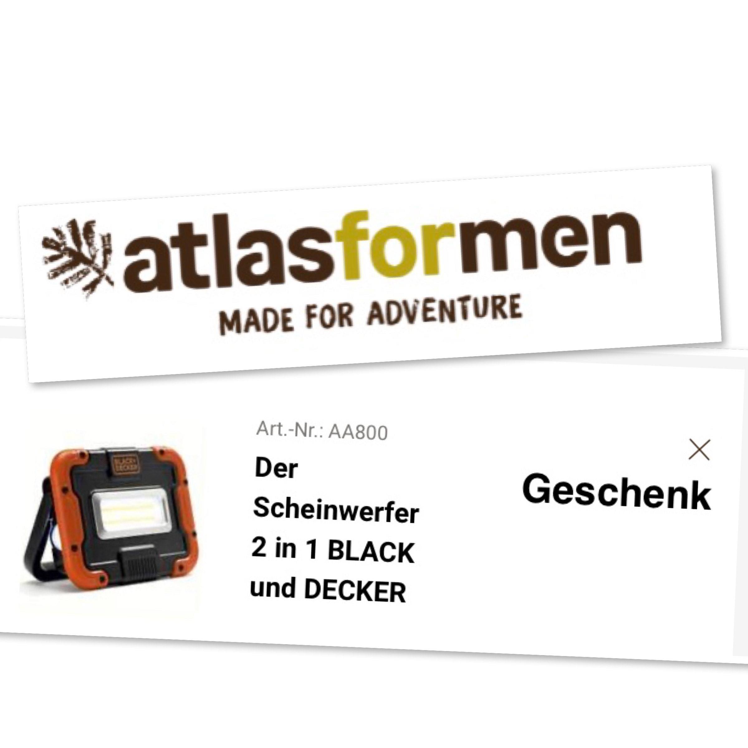 Atlasformen: Black und Decker Scheinwerfer, gratis zu jeder Bestellung