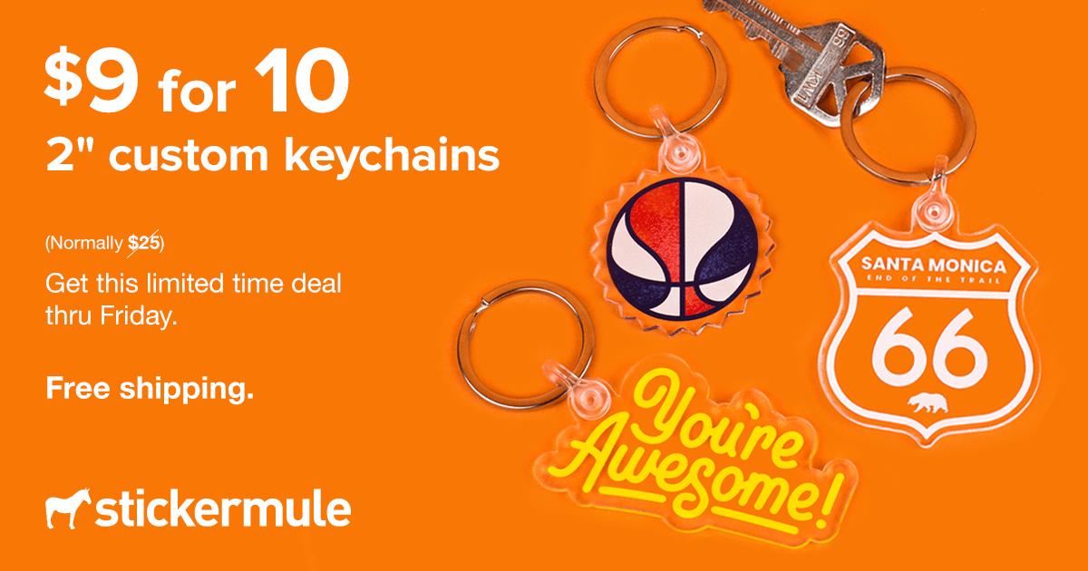 [Stickermule] 10 Schüsselanhänger für 9 Euro