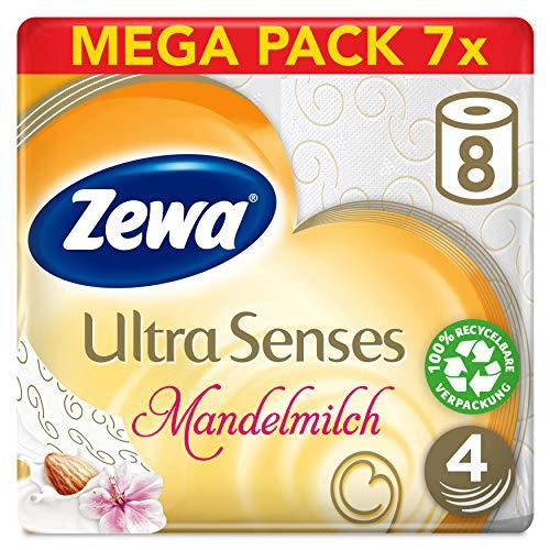 7x8 Rollen Zewa Ultra Senses Toilettenpapier, 4-lagig