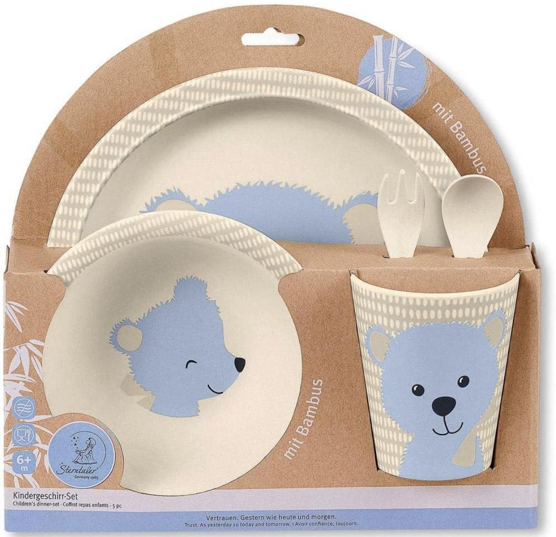 Sterntaler Bambus Kinder Geschirr-Set Baylee in blau