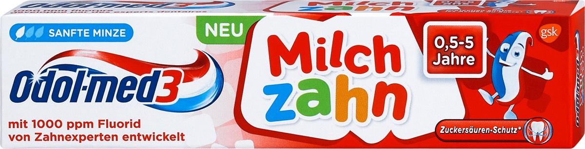 med3 Milchzahn Kinder Zahnpasta, 50 ml