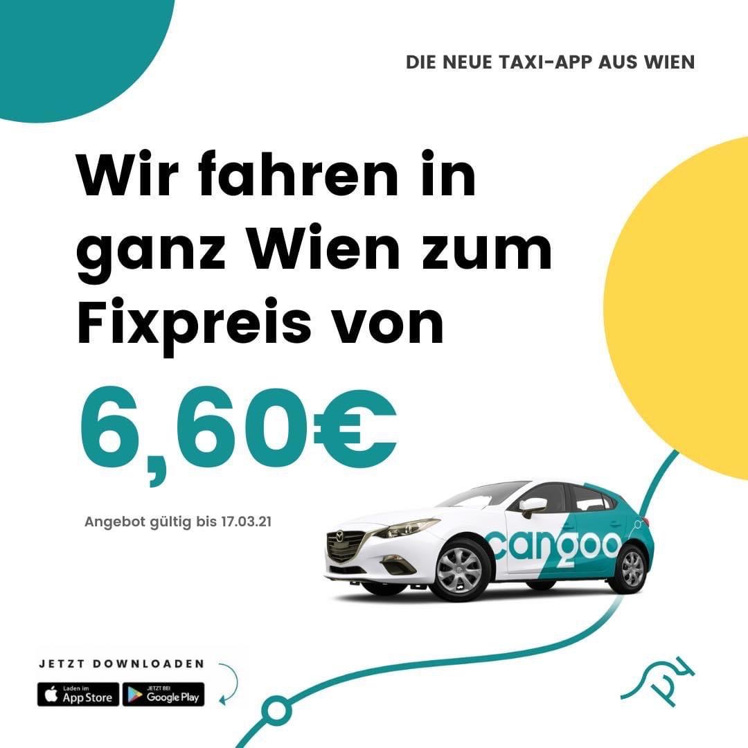 Cangoo Taxi fährt in ganz Wien für 6,60€