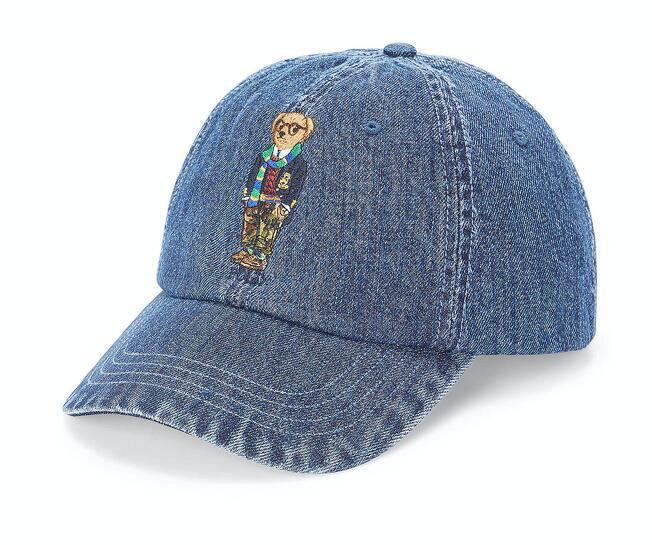 "Polo Ralph Lauren ""Jeans Kappe"" mit Teddy-Stickerei"