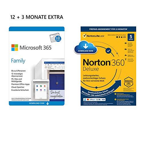 Office 365 Family für 15 Monate & Norton 360 als Zugabe