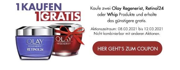 1+1 gratis auf Olay Regenerist bei Müller