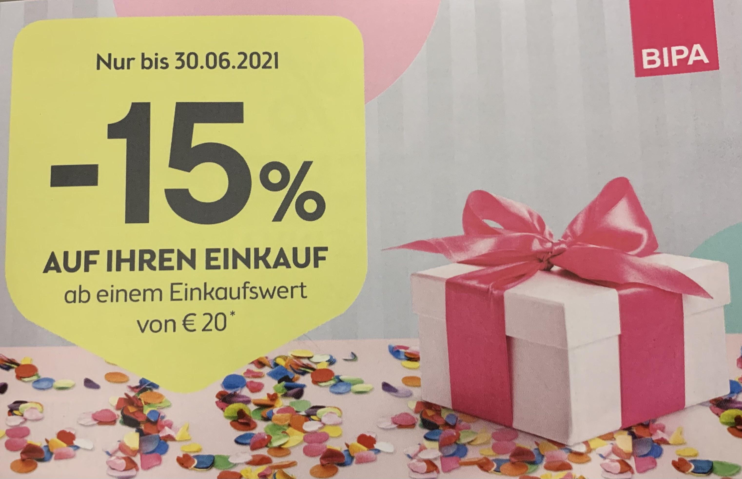 -15% auf Ihren Einkauf