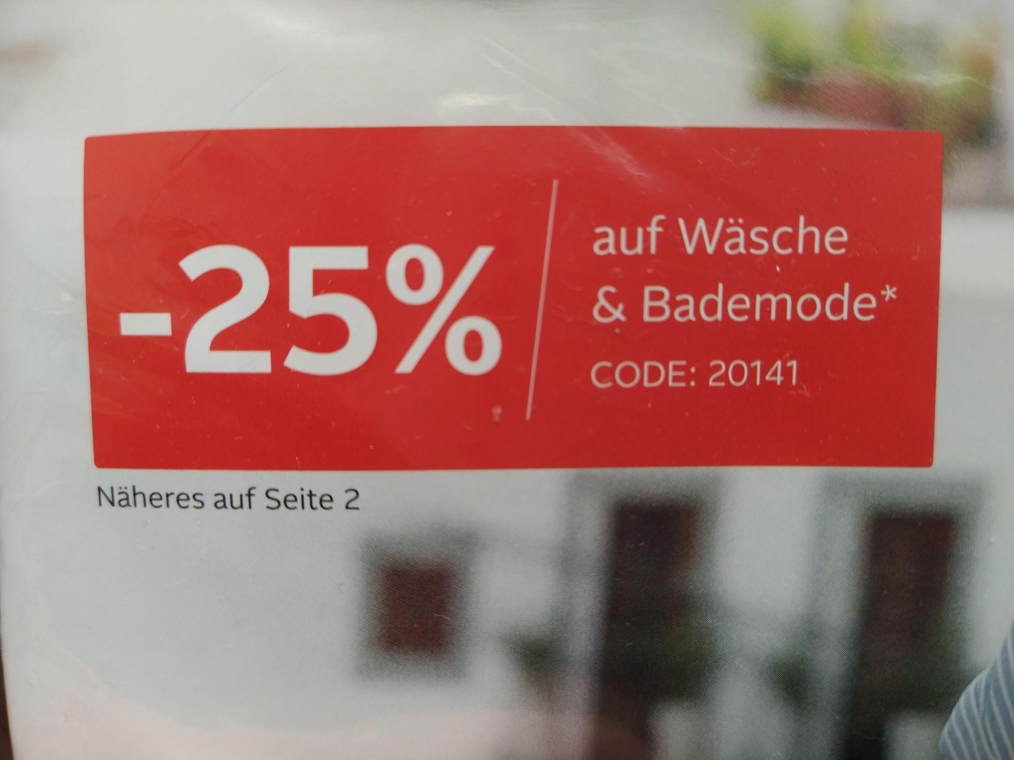 -25% auf Wäsche und Bademode bei OTTO
