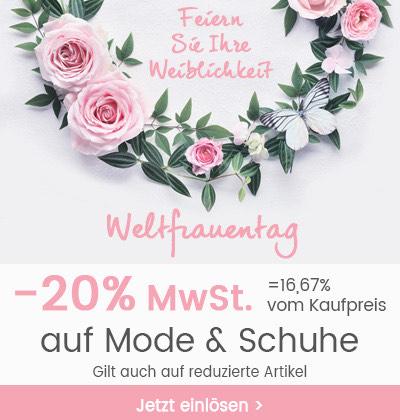20% MwSt auf Mode&Schuhe inklusive Sale bei Universal