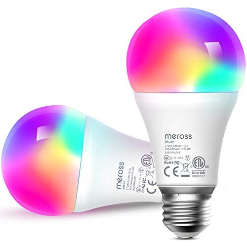 Meross Smart WLAN Glühbirne mit Alexa, Google Home und SmartThings,