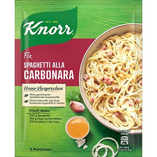 Knorr Fix Würzbasis Spaghetti alla Carbonara, 3 Portionen, 36g im Spar-Abo