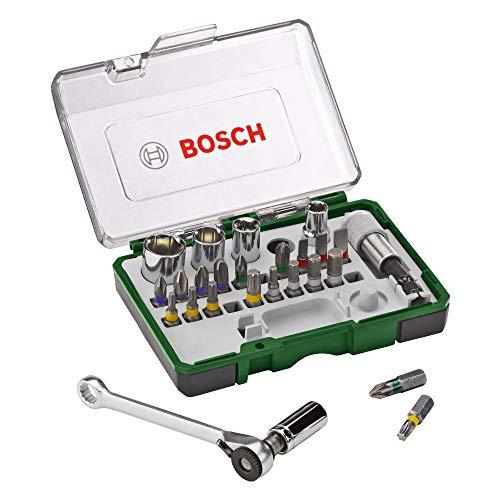 Bosch Bitset/Steckschlüsselsatz, 27-tlg.