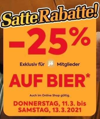 25 % auf Bier ab Donnerstag