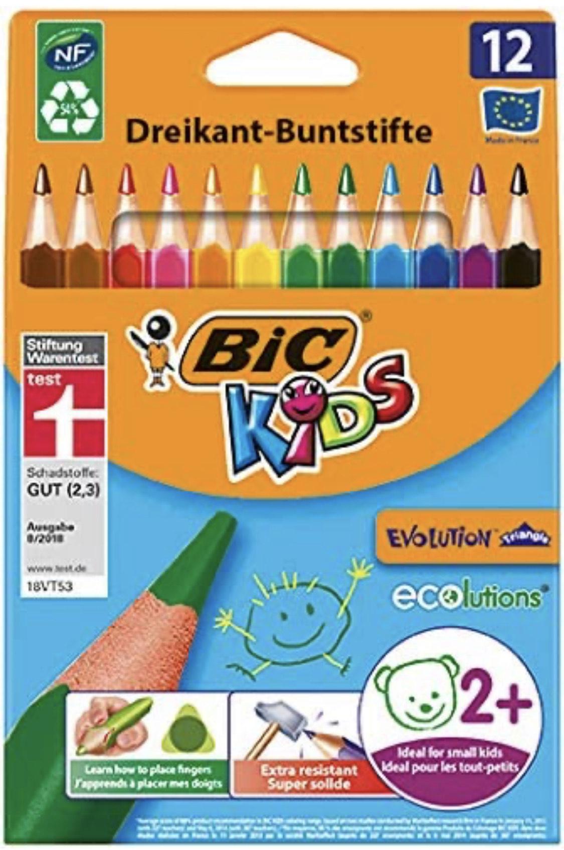 Bic Kids ECOlutions Evolution, 12 Kinder-Buntstifte