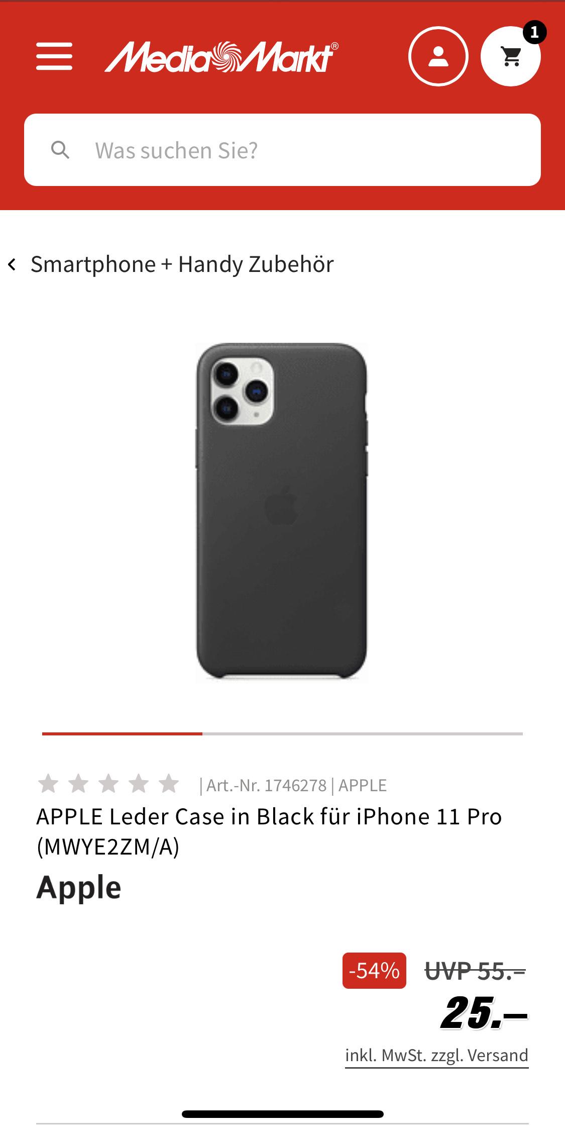 APPLE Leder oder Silikon Case in verschiedenen Farben für iPhone 11 Pro (Max)
