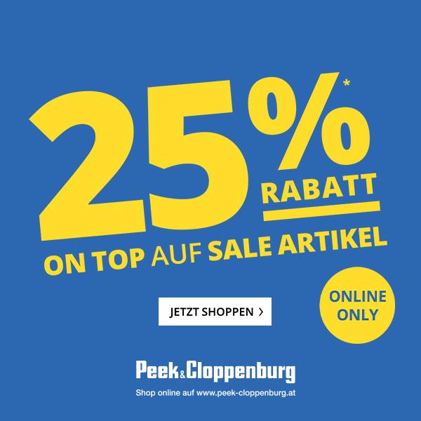 Peek & Cloppenburg: 25% Extra-Rabatt auf alle Sale-Artikel