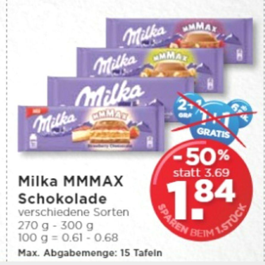 Milka Schokolade 300g pro Stück um 1.84€ bei Unimarkt ohne Gutschein.