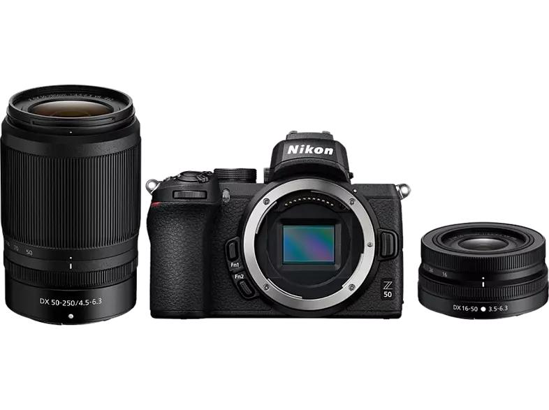 Nikon Z 50 mit Objektiv Z DX 16-50mm VR und Z DX 50-250mm VR