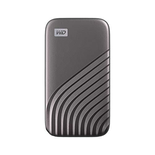 WD My Passport SSD 500 GB mobile Festplatte mit NVMe-Technologie, USB-C und USB 3.2 Gen-2 kompatibel, Lesen 1050 MB/s, Schreiben 1000 MB/s
