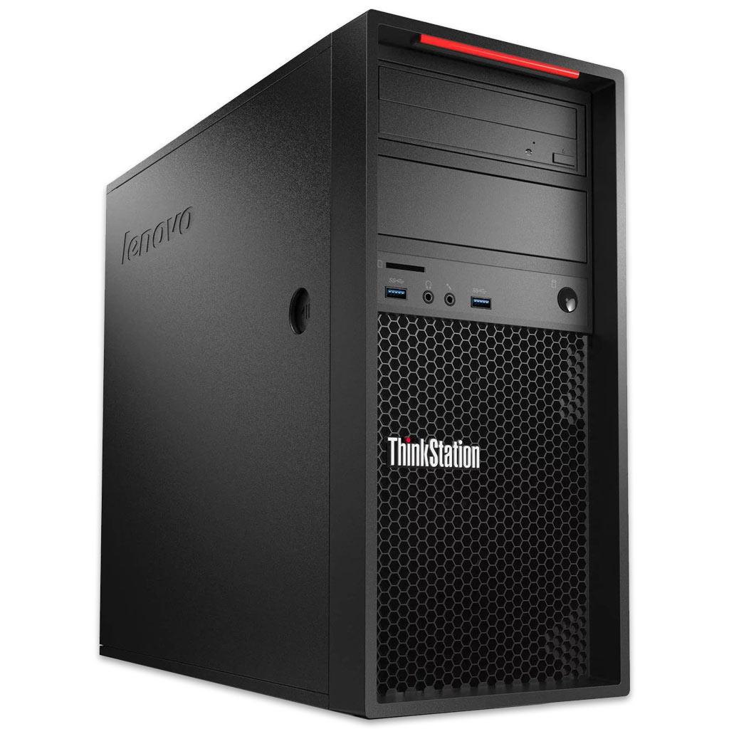 (Gebraucht - Grade A): Lenovo ThinkStation P300 MT - Xeon E3, 16GB/180GB, Nvidia Quadro K2200, Win10Pro