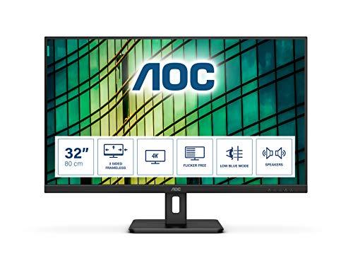 AOC U32E2N - 32 Zoll UHD Monitor (3840x2160, 60 Hz, HDMI 2.0, DisplayPort) ( Derzeit nicht auf Lager)