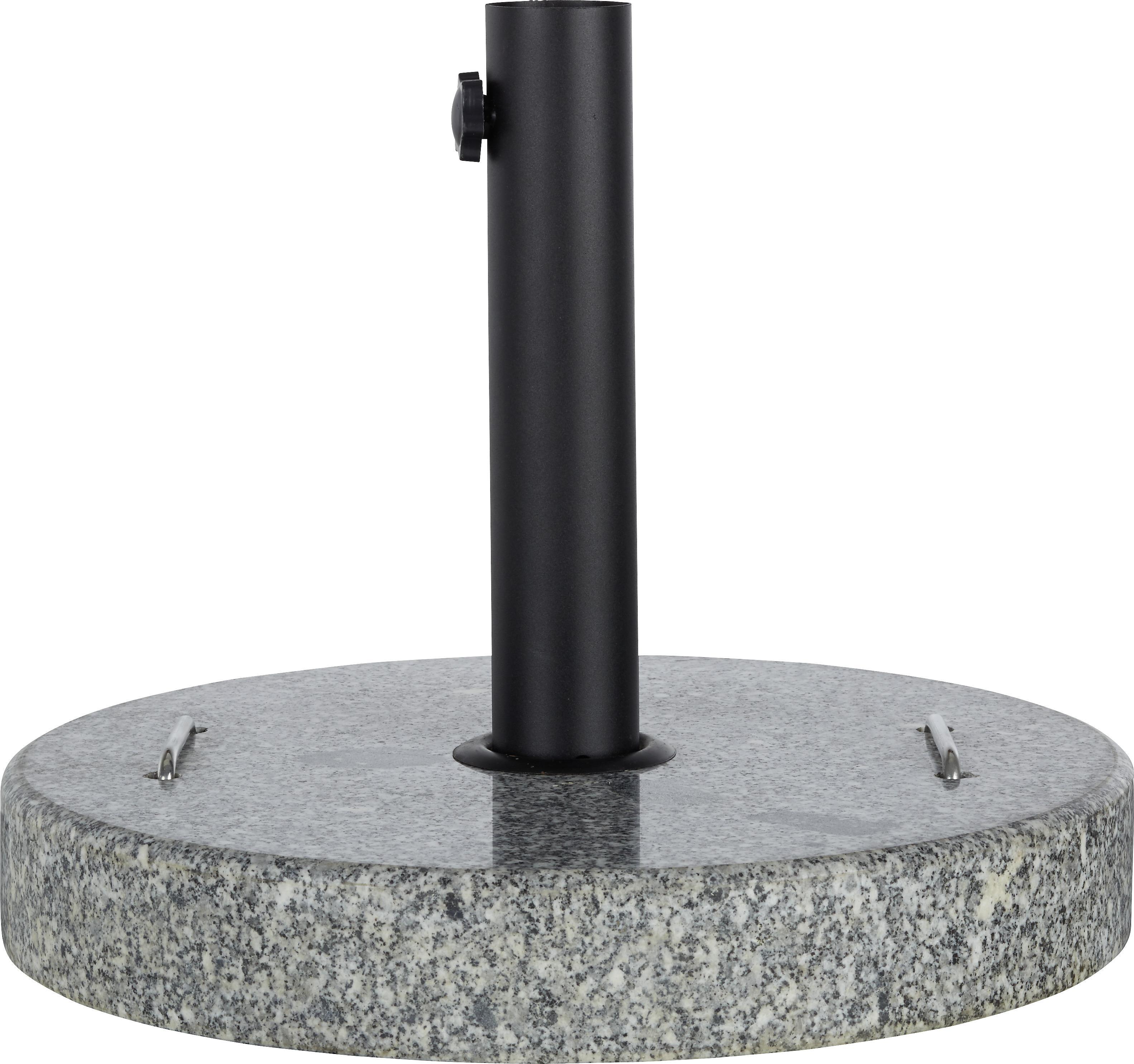 bei Filialenabholung: Sonnenschirmständer (Marmor, 30 kg) für Schirme bis Ø 5,8 cm
