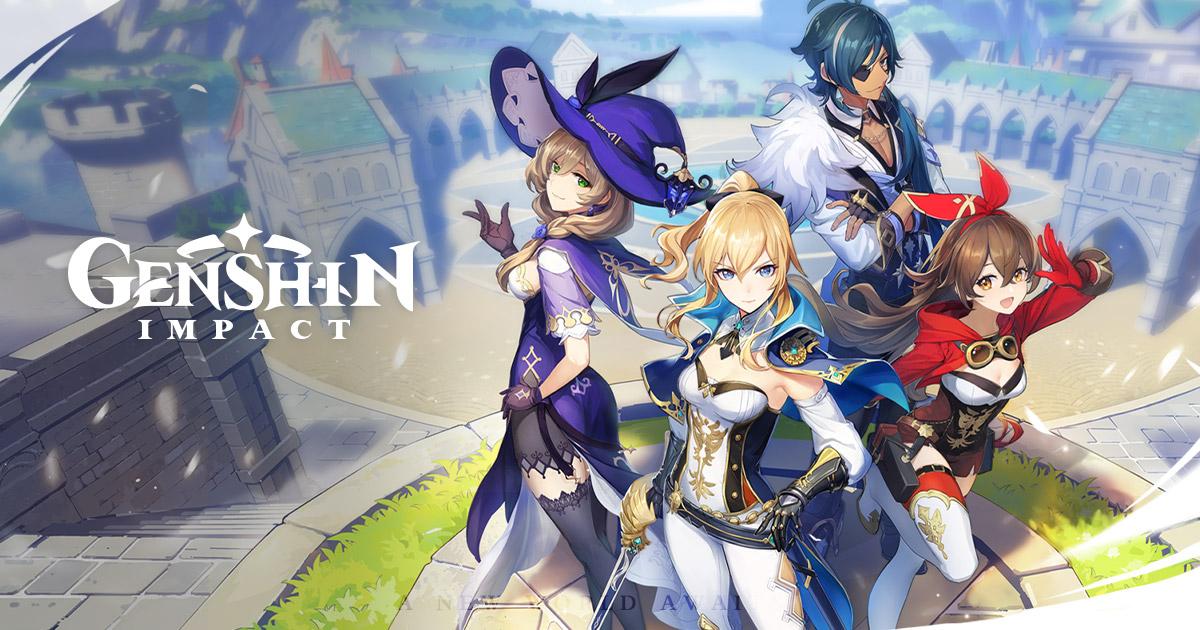 """""""Genshin Impact"""" (PS4 / Windows PC / Android / iOS) 60 Primogems und 10.000 Mora / + 30Primos und 5 Blue Exp Books / + 60 Primos"""