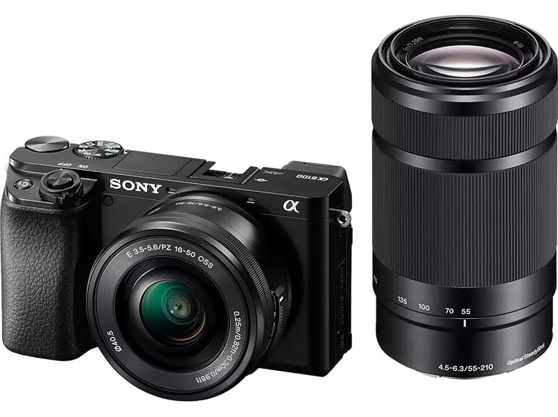 Sony Alpha 6100 Kit 16-50mm + 55-210mm schwarz