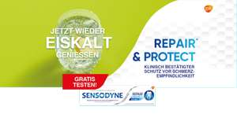 Sensodyne Repair & Protect Zahncreme gratis testen