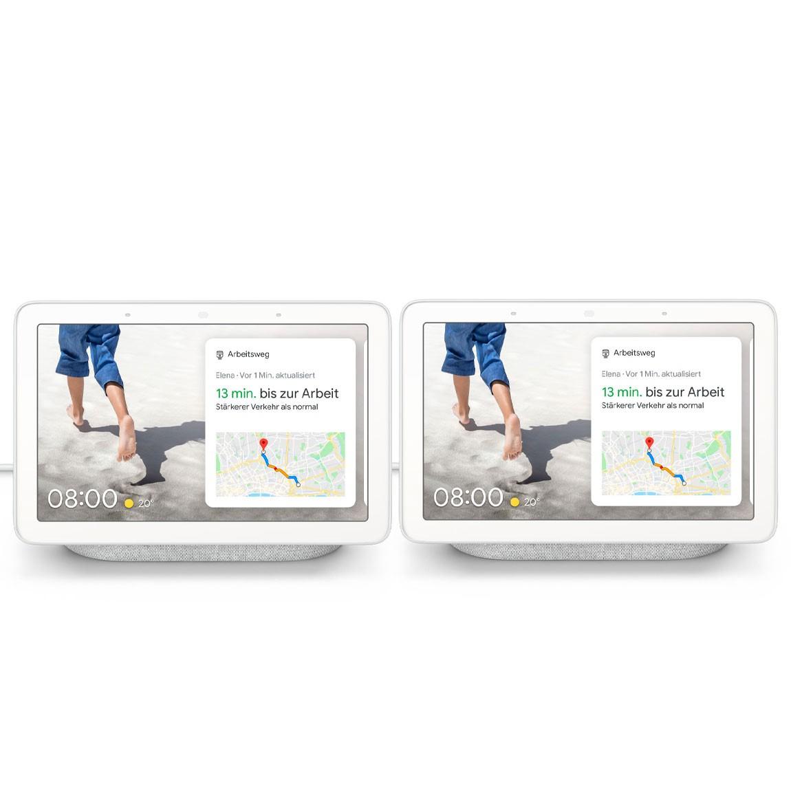 2x Google Nest Hub um 109€ // Google Nest Hub + Google Nest Mini um 79€
