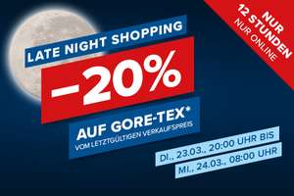Hervis: 20% Rabatt auf Gore-Tex Artikel vom letztgültigen Verkaufspreis