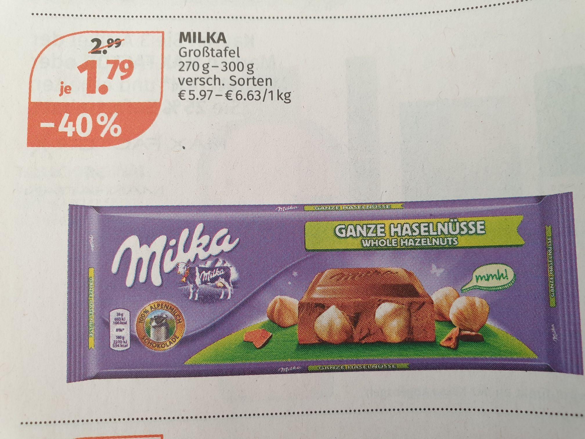 MILKA 300g bei Müller um 1.79€