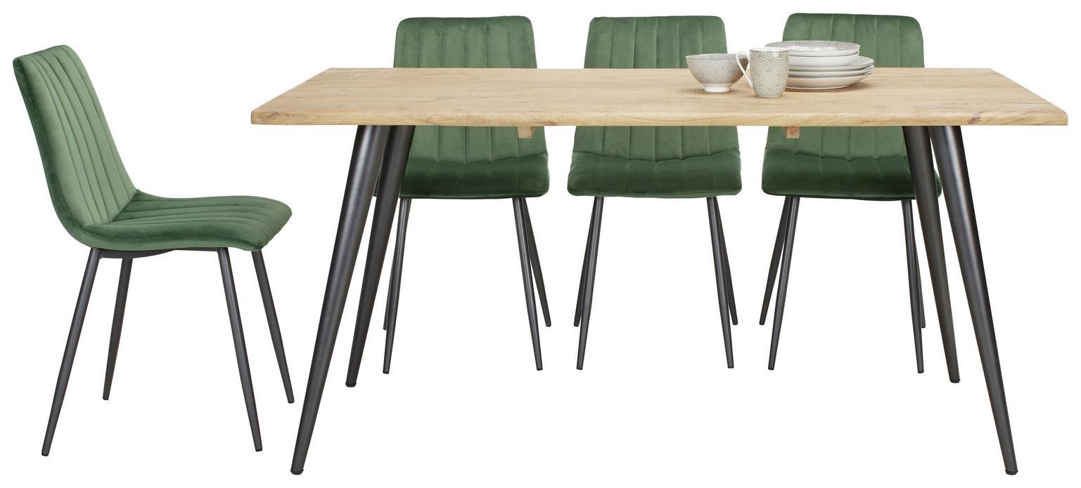 Massiver Echtholz Tisch (Akazie, 160/76/90cm)