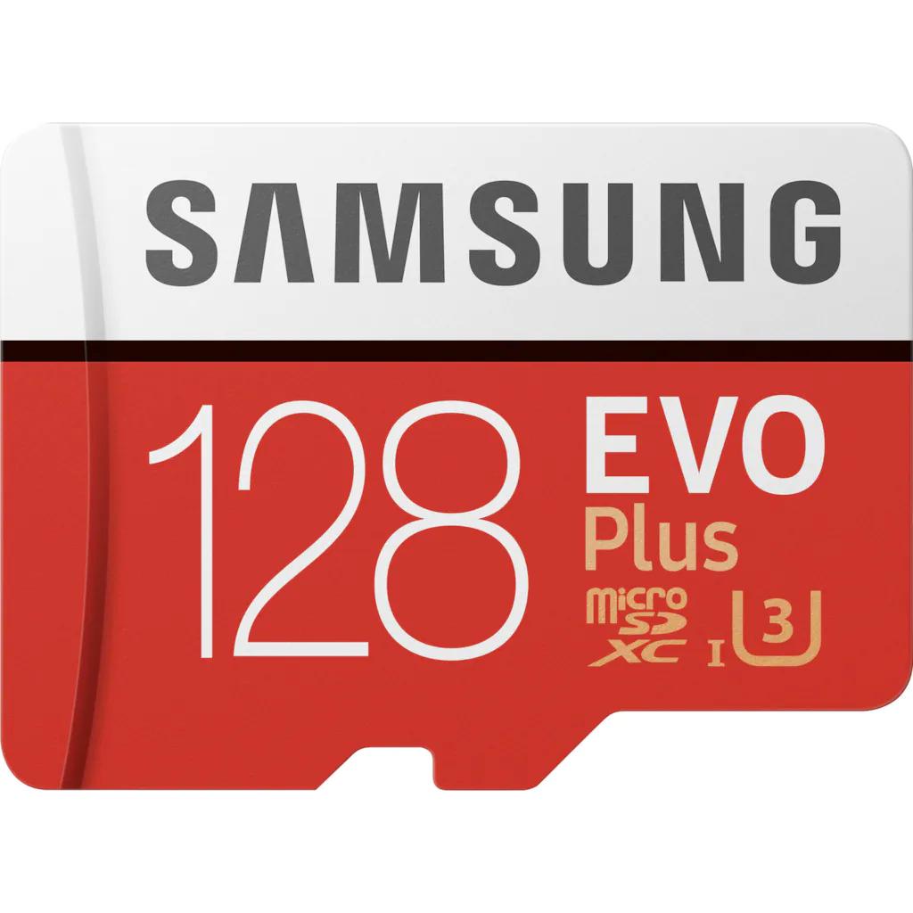 Samsung EVO Plus 128GB microSD UHS C10 U3 ( €6,99 mit Universal Premium)