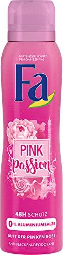 FA Deospray Pink Passion Duft der Pinken Rose, 6er Pack (6 x 150 ml)