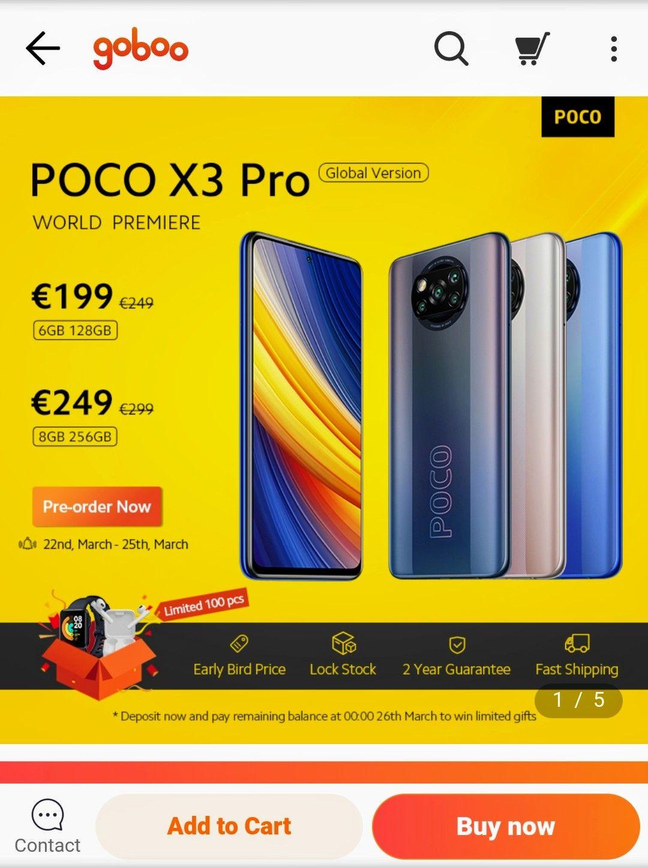 POCO X3 Pro prelaunch Preis